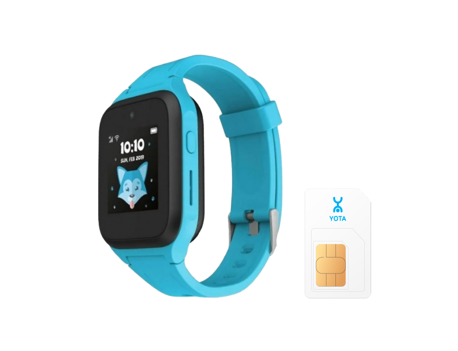 Часы-телефон TCL MT40X (голубые) Yota