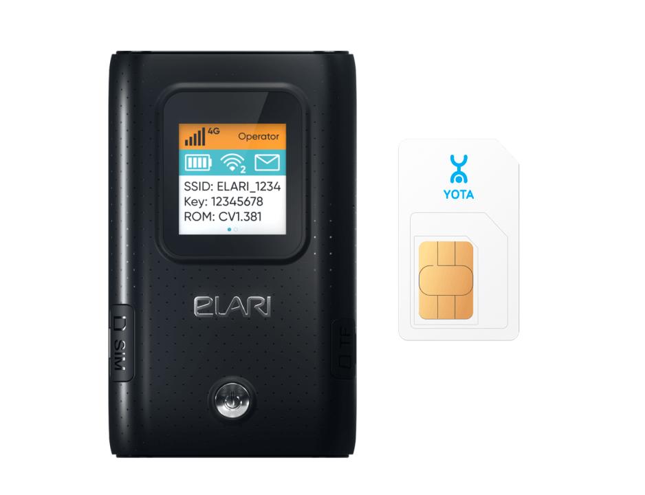 Роутер Elari SmartWiFi Lite + SIM-карта Yota